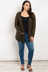 S14-1-1-S10566X OLIVE PLUS SIZE SWEATER 2-2-2