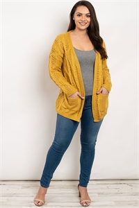 S15-1-1-S10566X MUSTARD PLUS SIZE SWEATER 2-2-2