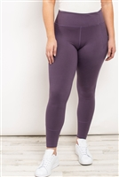 S21-11-1-L1080X VIOLET PLUS SIZE LEGGINGS 2-2-2