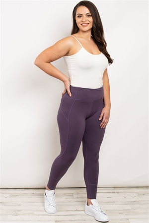 S19-9-2-L1080X VIOLET PLUS SIZE LEGGINGS 3-2-2