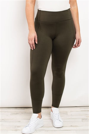 S21-10-1-L1080X OLIVE PLUS SIZE LEGGINGS 2-2-2