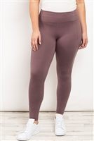 S21-11-1-L1080X MAUVE PLUS SIZE LEGGINGS 2-2-2
