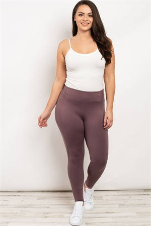 S19-9-2-L1080X MAUVE PLUS SIZE LEGGINGS 3-2-2