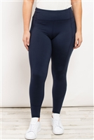 S21-11-1-L1080X NAVY PLUS SIZE LEGGINGS 2-2-2