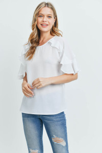 C40-B-2-T51635 OFF WHITE TOP 2-2-2