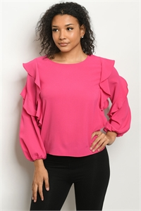 C46-B-2-T51682 FUCHSIA TOP 2-2-2