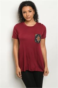 C16-A-1-T8481 BURGUNDY TOP 2-2-2