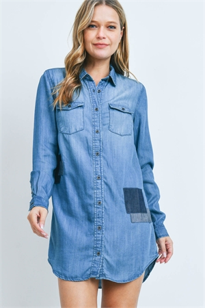 S11-20-1-D40818 BLUE DENIM DRESS 1-2-2-1
