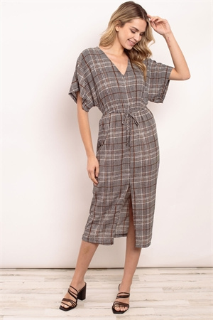 C20-A-1-D3022 BLACK CHECKERED DRESS 2-2-2