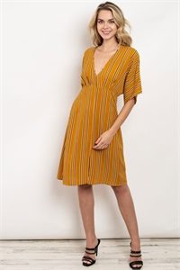C26-A-1-D9835 MUSTARD STRIPES DRESS 2-2-2