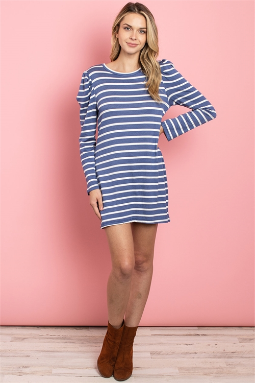 C68-A-1-D2001 BLUE STRIPES DRESS 2-2-2