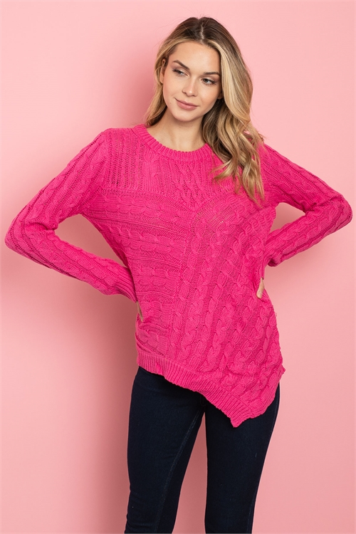 S9-1-2-S0019 FUCHSIA SWEATER 3-3