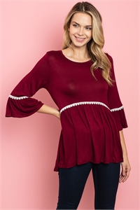 S17-1-2-T32105 BURGUNDY TOP 1-1-1