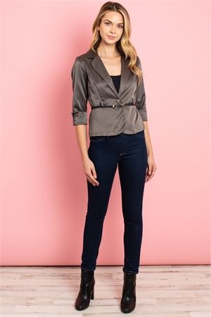 C54-A-1-J3038 CHARCOAL STRIPES JACKET 2-2-2-2