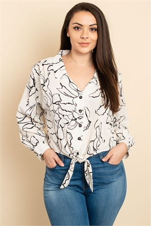 S15-8-1-T14299X IVORY BLACK PRINT PLUS SIZE TOP 3-2