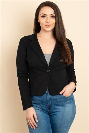 C22-A-1-J3127X BLACK PLUS SIZE JACKET 3-2-2