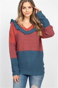 S9-11-2-S10813 TEAL RUST SWEATER 2-2-2