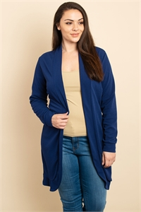 S9-14-1-C089X NAVY PLUS SIZE CARDIGAN 3-2-1