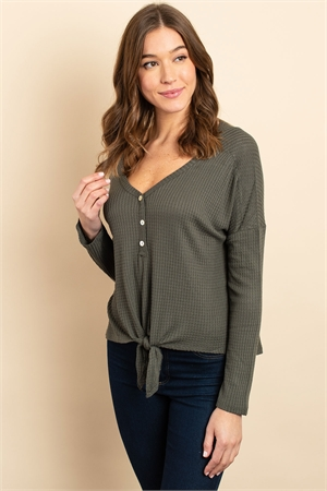 S17-9-2-T25746 ARMY GREEN TOP 1-1-1