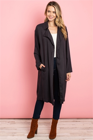 S4-10-1-C21685 CHARCOAL LIGHT COAT 2-2-2