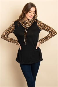 C30-A-2-T1001 BLACK ANIMAL PRINT TOP 1-2-2-1