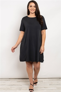 S13-3-2-D43137X CHARCOAL PLUS SIZE DRESS 3-2-1