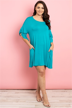 C32-A-1-D4226X TURQUOISE PLUS SIZE DRESS 2-2-2