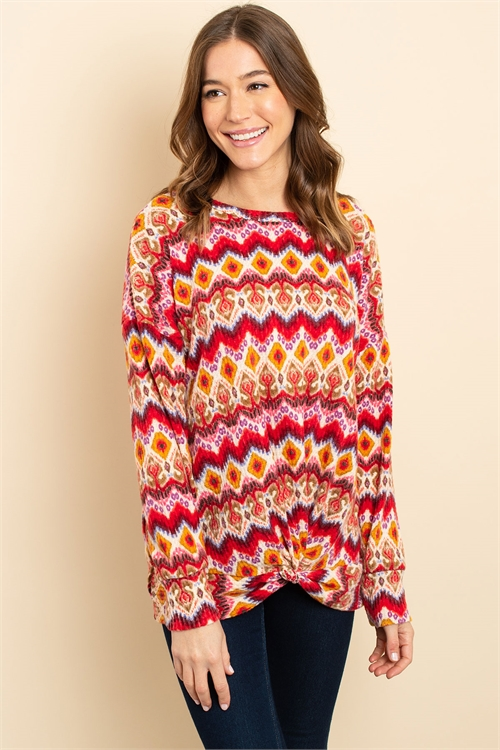 C58-B-1-T2261 MULTI COLOR TOP 2-2-2