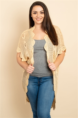 S13-12-3-C20499X CREAM PLUS SIZE CARDIGAN 4-3