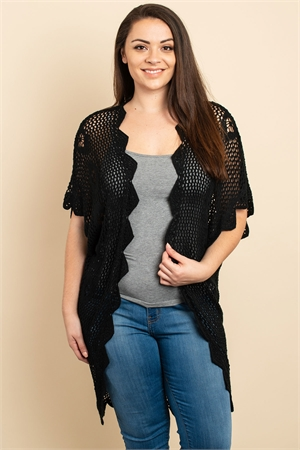 SA4-7-2-C20499X BLACK PLUS SIZE CARDIGAN 3-3