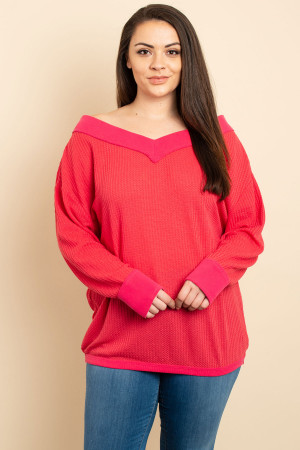 S13-12-3-T1224X FUCHSIA PLUS SIZE TOP 3-2-2