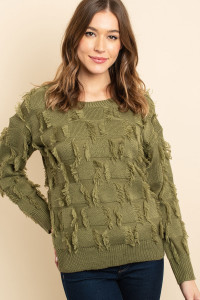 S13-12-3-S2190 OLIVE SWEATER 1-2-2
