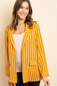 S13-9-3-C2269 MUSTARD STRIPES CARDIGAN 2-2-2