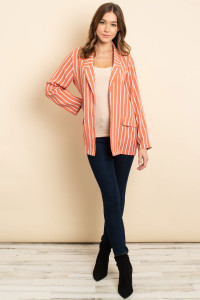 S13-12-3-C2269 MAUVE STRIPES CARDIGAN 3-2-1