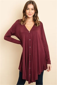 S15-11-3-T2280 BURGUNDY TOP 3-2-2