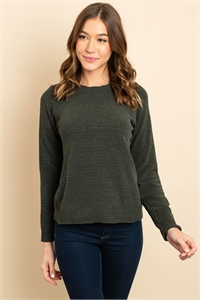 S9-8-2-S3458 OLIVE SWEATER 3-2-1