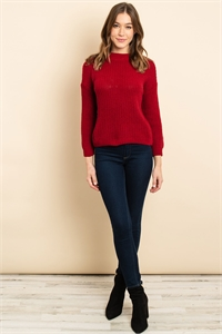 S15-8-4-S3961 BURGUNDY SWEATER 1-3