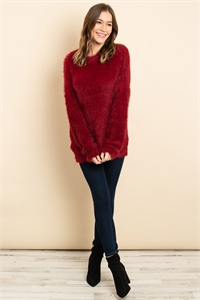 S14-9-2-S3880 BURGUNDY SWEATER 3-2-2