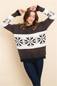 S16-11-2-S3881 BLACK IVORY SWEATER 1-2-2