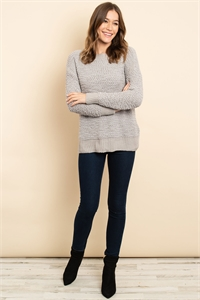 S16-11-1-S3464 GRAY SWEATER 3-2-2