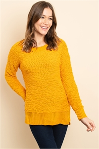 S16-11-1-S3464 BROWN SWEATER / 3PCS