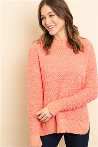 S16-11-1-S3464 CORAL SWEATER 1-2