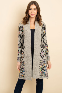 S7-2-1-C6130 GRAY MULTI CARDIGAN 1-2-2-1