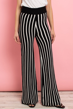 S10-8-1-P1270314 BLACK WHITE STRIPES PANTS 2-2-2