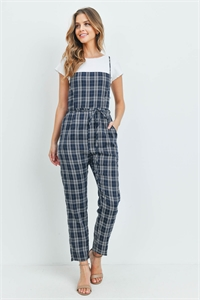 S13-6-1-J2148 NAVY CHECKERED JUMPSUIT 3-2-1