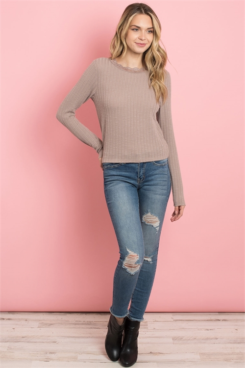 C78-A-1-T3205 TAUPE TOP 2-2-2