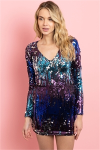 S16-3-2-D8656 MULTI COLOR WITH SEQUINS DRESS 3-2-1