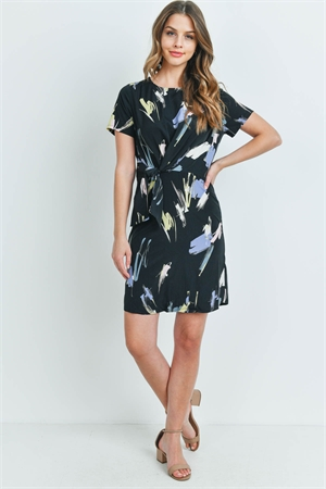 S9-11-3-D8561 BLACK MULTI PRINT DRESS 2-2-2