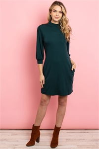 S10-13-1-D16537 HUNTER GREEN DRESS 2-2-2
