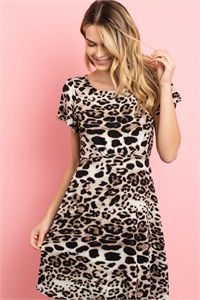 S4-10-2-D16465 BROWN ANIMAL PRINT DRESS 2-2-2